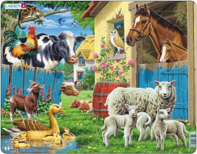 Купить Пазлы Сельскохозяйственныe животныe