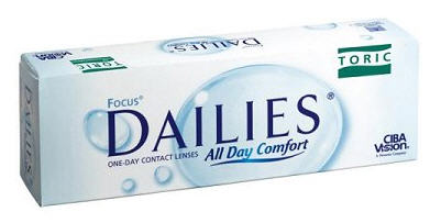 Купить Focus Dailies Toric Ciba Vision. Однодневные,торические контактные линзы.