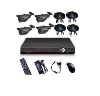 Купить Системы видеонаблюдения DVR kit with 4 Cameras KT46