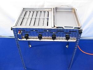Купить Гастрогриль 4 комбинированный с решеткой и стальной сковородой