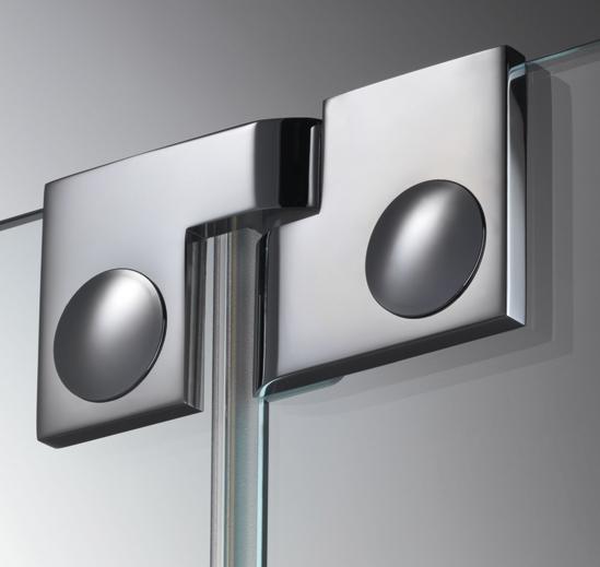 Купить Дверная петля для душевых кабин Plan artist 180° упор DIN слева