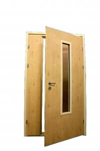 Купить Дверь двустворчатая остекленная техническая DDG