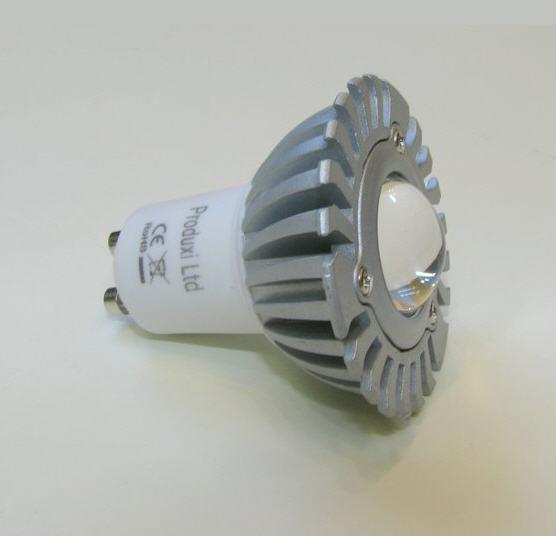 Купить 1х3В LED лампочка с цоколем GU10, Холодный белый