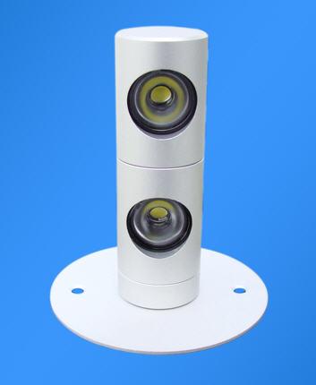 Купить LED Настенный светильник 2х3В, Тёплый белый, направляемый 360 градусов