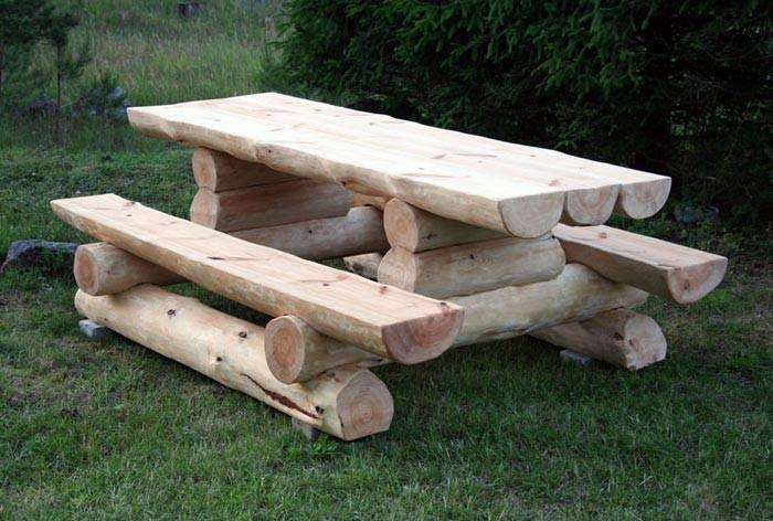 Купить Мебель деревянная садовая из сруба