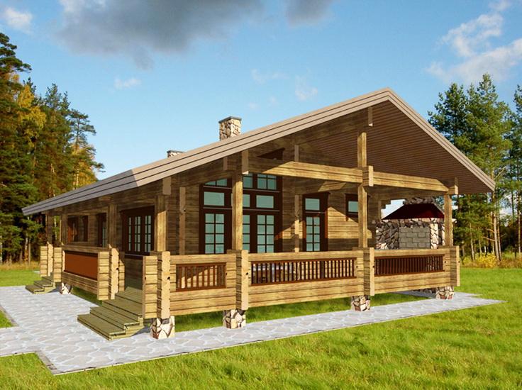 Купить Дома из деревянного бруса