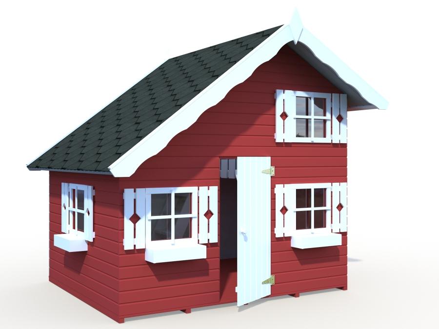 Купить Садовый домик Tom, северная ель, готовые стеновые элементы, кровля и пол из досок со шпунтами и пазами, 5 лет гарантии