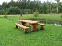 Мебель деревянная садовая