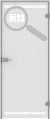 Двери стеклянные SQUARE PLUS