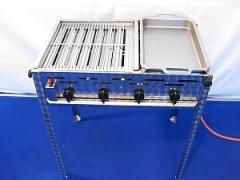 Гастрогриль 4 комбинированный с решеткой и стальной сковородой