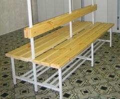 Скамейка двухсторонняя c низкой спинкой (без