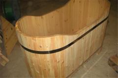 Ванны деревянные из дуба, сосны, ясеня