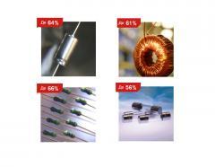 Конденсаторы, резисторы, потенциометры, ферриты