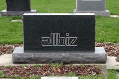 Надгробия из гранита двойные