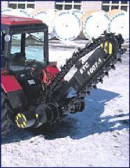 Groundcutting jib machine