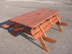 Дачные столы из дерева на 6 чел