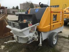 Pumps for concrete supplying