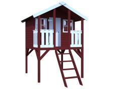 Садовый домик Toby , северная ель,кровля и пол из досок со шпунтами и пазами, оргстекло,готовые стеновые элементы