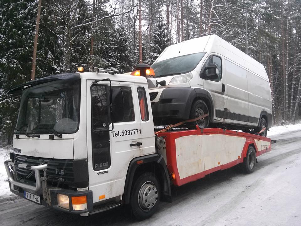 Заказать Буксировка и техпомощь в Эстонии