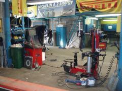 Продажа, монтаж и ремонт шин для легковых автомобилей и фургонов