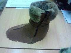 Вырубка деталей и пошив заготовок верха обуви
