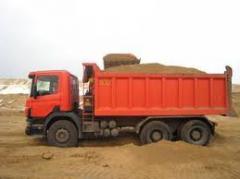 Перевозка сыпучих строительных материалов